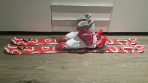 Used Girl Roxy ski package 115cm with 22.5cm boots (US2-3)