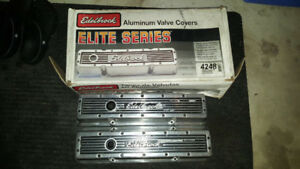 Small Block Chevy Edelbrock Polished Aluminum Valve Covers $99