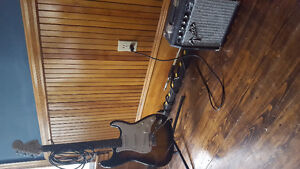 Fender Squire Strat and Amp