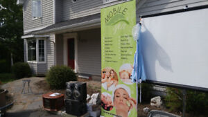 Mobile Spa poster sign