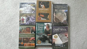6 SEALED DVD Sets Weaving Spinning Carding Wool Dying INTERWEAVE