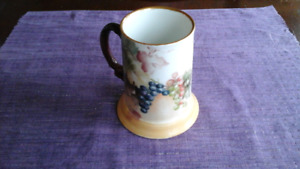 Beautiful, Limoges Early 1900s, Hand painted Porcelain Mug
