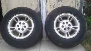 2 15 inch Dodge alloys