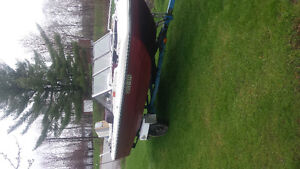 """15'5"""" tri hull with 65 hp $3000 obo"""