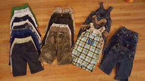 Baby Boy Lot size 6-12 months pants/overalls