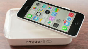 Iphone 5c White 8 GB and accessories
