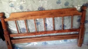 Antique 3/4 bed with new mattress