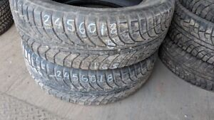 Pair of 2 GTRadial Champiro IcePro 245/60R18 WINTER tires (70% t