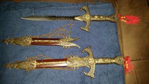 2 dagues médiévale