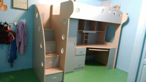 Jysk Kids Loft Bed with Desk