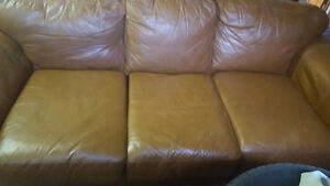 Sofa cuir bruin