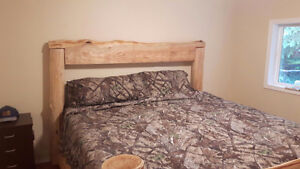 Beautiful Live Edge King Size Bed Frame & Headboard - $1800 OBO