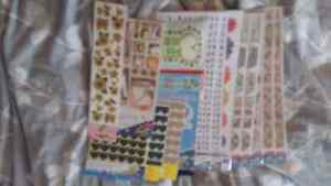 15 packs of stickers (scrapbooking)