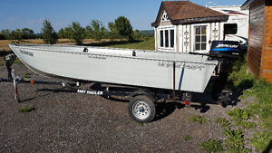Fishing boat with motor and trailer - 16ft Canadian Ultracraft