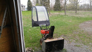 Snow blower with brand new tent