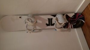 snow board with bindings and boots