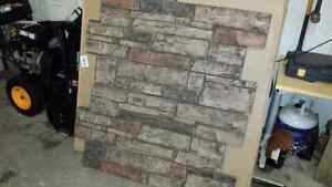 Stone wall panels made of fibre glass