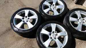 four original 17 inch mazda mags with tires rims jantes