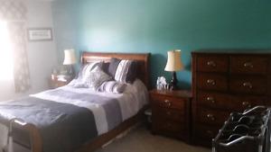 Queen bed set, 8 pc