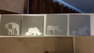 Set of 4 Safari Animal Mirrors
