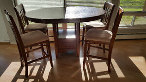 High Table and 4 Chairs Strathcona County Edmonton Area image 1
