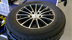"16"" alloy rims with used Michelin All season tires on"