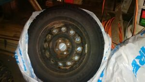 Goodyear Nordic winter tires 195/70/R14 with steel rims(4x100) Kitchener / Waterloo Kitchener Area image 2