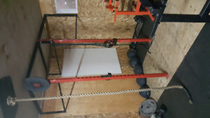 Crossfit style stage racking