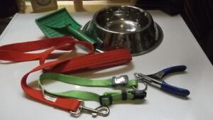 Lot d'accessoires pour chien