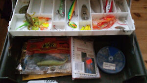 100 OBO Fishing lures 3 tackle boxes