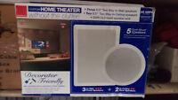 5 in-wall/ceiling speakers with 200' of wire. New in Box