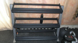 3 tier dumbbell rack like new PRICE REDUCED