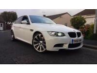 2008 58 BMW M3 4.0 (420bhp) RARE 4 DOOR IN WHITE.FULL BMW SH.STUNNING LOOKINGCAR
