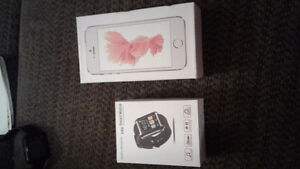 I7 media tek new in box cellphone with u80 new in box smartwatch