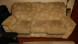 Three seat recliner sofa FREE to collect