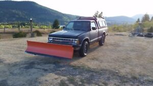 1992 Chevrolet S-10 Pickup Truck with Snowplow