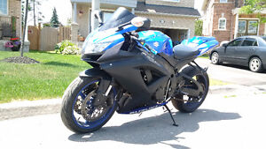 2008 Suzuki GSX-R 750 with Twin Brother Exhaust