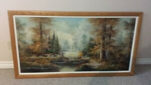 LARGE FRAMED PICTURE