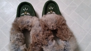 Green Native moccasins