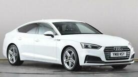 image for 2018 Audi A5 2.0 TDI Ultra S Line 5dr S Tronic Auto Hatchback diesel Automatic