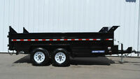 NEW 2015 SureTrac 7x14' Dual Ram Dump Trailer WE LEASE!! 14k GVW