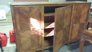 Turn of Century LXV Style Rosewood Armoire/low Armoirette