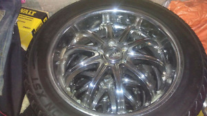 """20"""" msr chrome wheels and tires for sale"""