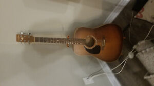 Left handed Acoustic art and lutherie cedar