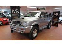 2002 MITSUBISHI L200 Double Cab TD Warrior 4WD 113Bhp Full Leather NO VAT