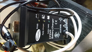 Battery charger for wheel chair