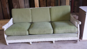 Oversized Wicker Couch