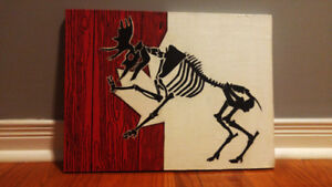 The Moose is Loose - 16 inch by 12 inch Acrylic Painting