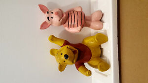 WINNIE THE POOH AND PIGLET STATUES