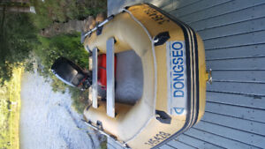 boat with motor for sale or trade for 400ex  4wheeler